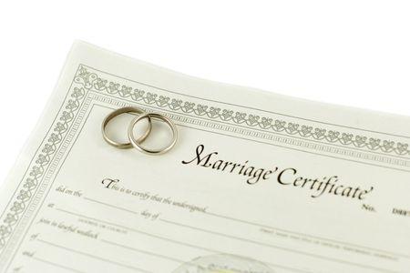 curare teneramente: Certificato di matrimonio