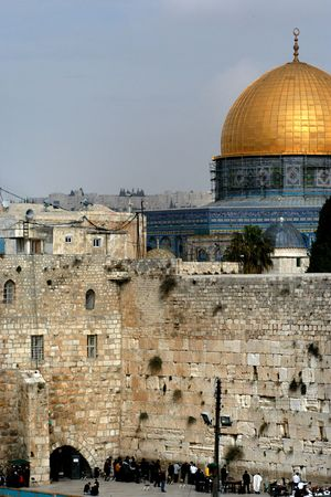 wailing: Wailing wall in Jerusalem Stock Photo