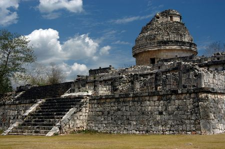 worl: Ancient observatory in Chichen Itza, Mexico