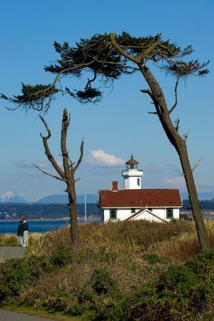 Port Townsend lighthouse, Washington Stock Photo - 348402