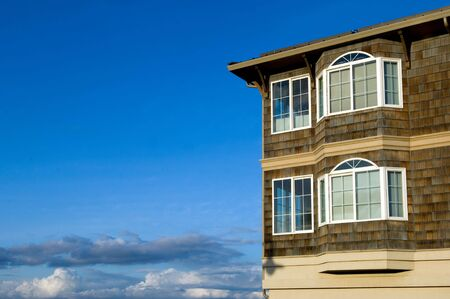homeowners insurance: Dream house in the clouds Stock Photo