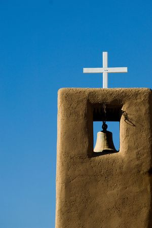 adobe pueblo: Catholic church in Taos Pueblo, New Mexico