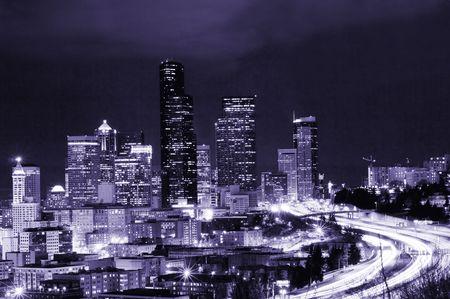 Futuristic Seattle photo