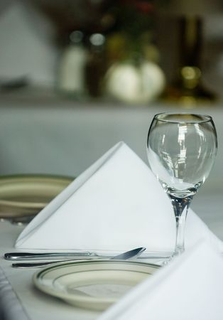 restaurant setting: Fine dining