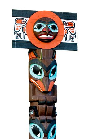 Totem pole in Vancouver, Canada Stock Photo - 396351