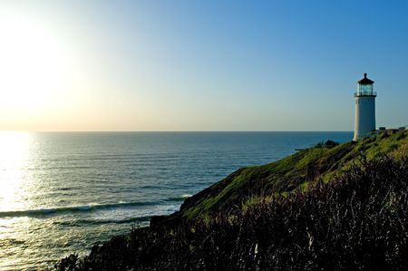 desilusion: Faro en la costa pac�fica de Washington, decepci�n del cabo