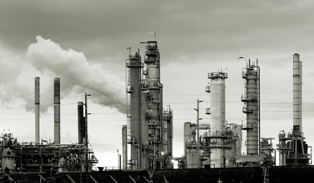 Oil refinery in Washington state, USA