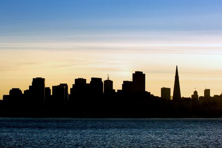 San Francisco silhouette at sunset Stock Photo - 396303