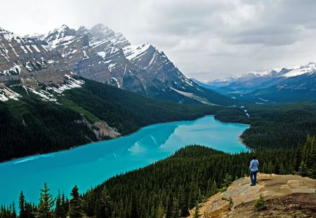 banff national park: Peyto lake at spring, Banff National park, Canada