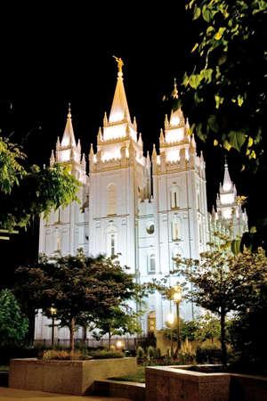 salt lake city: Templo cuadrados en Salt Lake City, Utah, EE.UU.