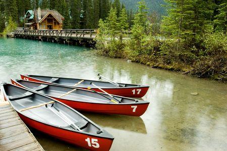 national scenic trail: Emerald lake, Yoho National park, Canada