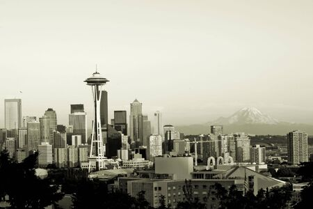 Seattle in sepia photo