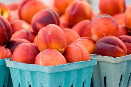 Nectarines at local farmer's market in Washington