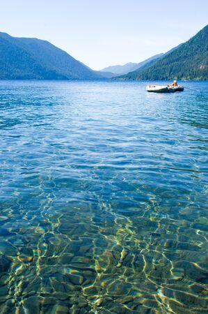vacationers: Crescent lake, Olympic National park, Washington