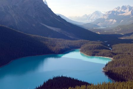 banff national park: Peyto lake, Banff National park, Canada