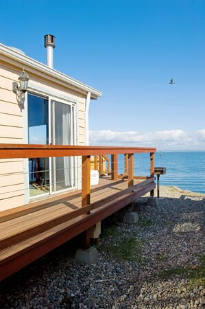 Vacation home on Oregon Pacific coast Stock Photo - 577826