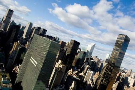 Angle view of midtown Mantatten, New York Stock Photo - 577917