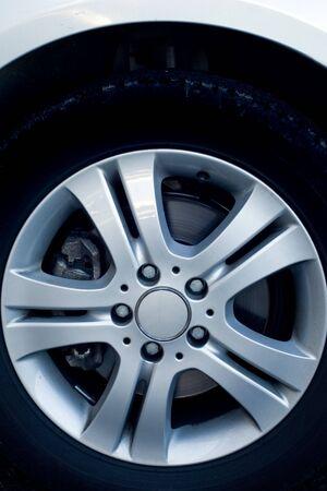 Alloy wheels on a luxury car Stock Photo