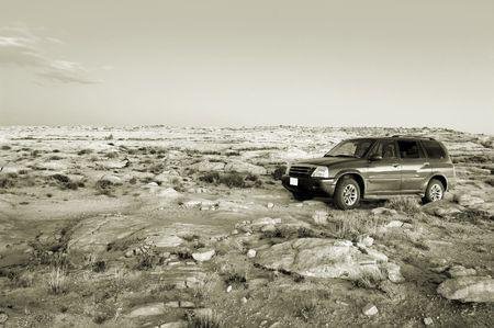 Offroad SUV in Utah desert