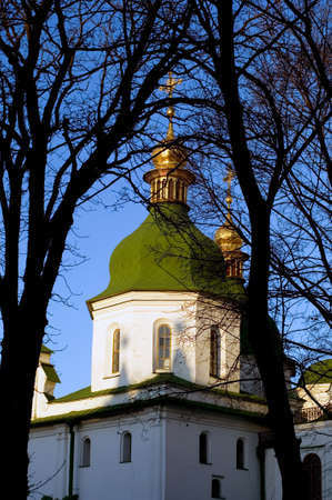 Famous ancient cathedral in downtown Kiev, Ukraine