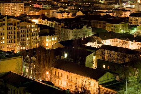 city living: City living in Podol district, Kiev, Ukraine Stock Photo