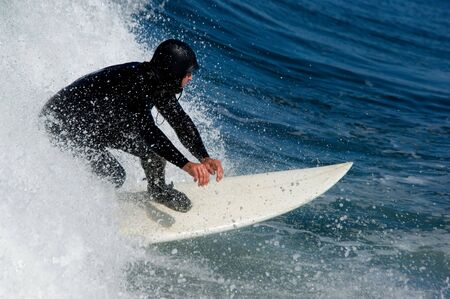 Surfing in Pacific ocean at Oregon beach, USA Stock Photo - 688445