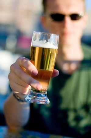 cuisine entertainment: Cheers! Stock Photo