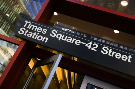 times square: Times Square - 42nd street subway station in Manhattan
