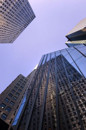 42nd: Office buildings on 42nd street in Manhattan, New York city