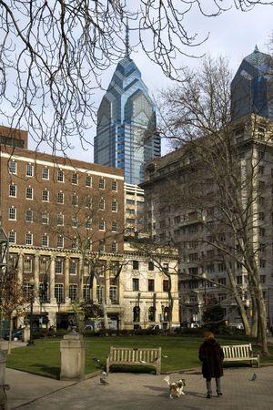 apartment: Rittenhouse square - famous posh neighborhood and city park in Philadelphia, PA Stock Photo