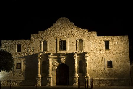 The Alamo mission in San Antonio Missions National park - famous landmark in Texas photo