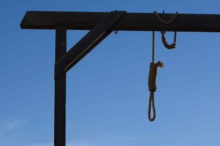 capital punishment: Gallows in Tobstone, Arizona, USA