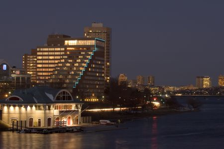 5-star hotel on Memorial drive by Charles river in Cambrige, MA photo