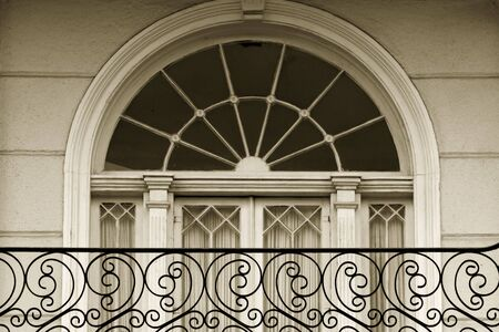 balcony: Window detail in Garden district of New Oleans Stock Photo