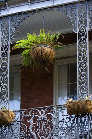 balcony: Balcony detail on French Quarter house, New Orleans Stock Photo