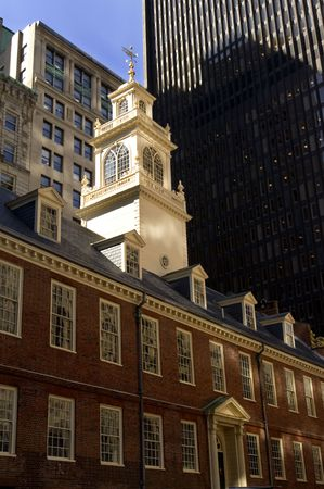 massachussets: The oldest public building in Boston built in 1713 - The Old State house