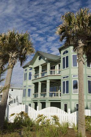 Newly build house development on Pensacola coast, Florida