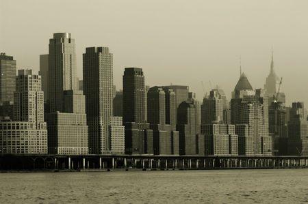 Retro 1930 regard de Midtown Manhattan Banque d'images - 850000