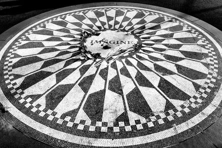 Strawberry Fields in Central Park, New York City photo