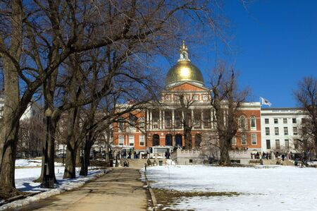 Massachussets State House in Boston Common, Boston photo