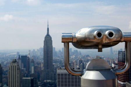 観察: ニューヨークのロックフェラー ・ センターの展望台 写真素材