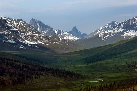 territorial: Tombstone territorial park along Dempster highway, Yukon