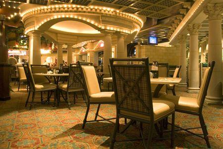 Eetkamer in een restaurant Stockfoto - 1357323
