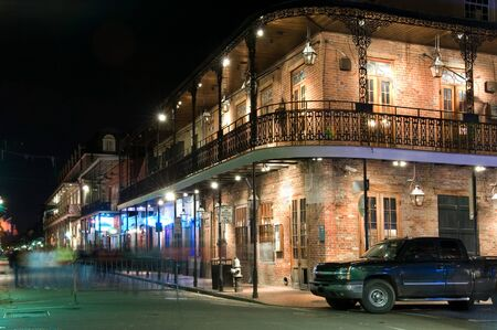 parade: Bars and clubs in French Quarter, famous New Orleans spot Stock Photo