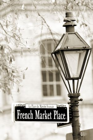 new orleans: Historical French Market in New Orleans in French Quarter