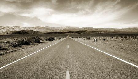 californian: Empty californian highway through the desert