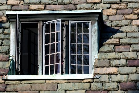 ivy league: Windows of old university campus building, Princeton, New Jersey