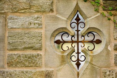 ivies: Muro di pietra campus universitario vecchio edificio, Princeton, New Jersey