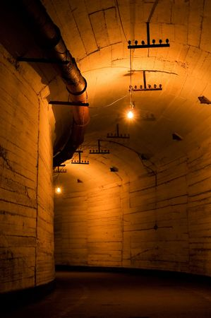 Old industrial tunnel photo