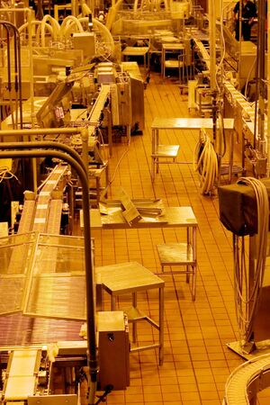 Production line inside cheese factory in Oregon, USA Stock Photo - 2685257